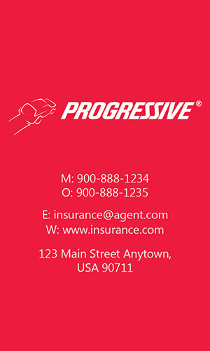 Red Progressive Business Card - Design #208044