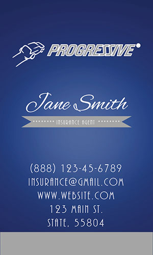 Blue Progressive Business Card - Design #208051