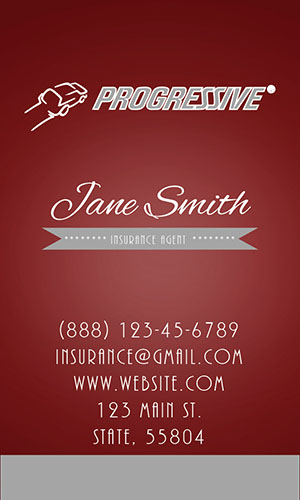 Red Progressive Business Card - Design #208054