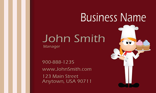 Red Catering Business Card - Design #2101031