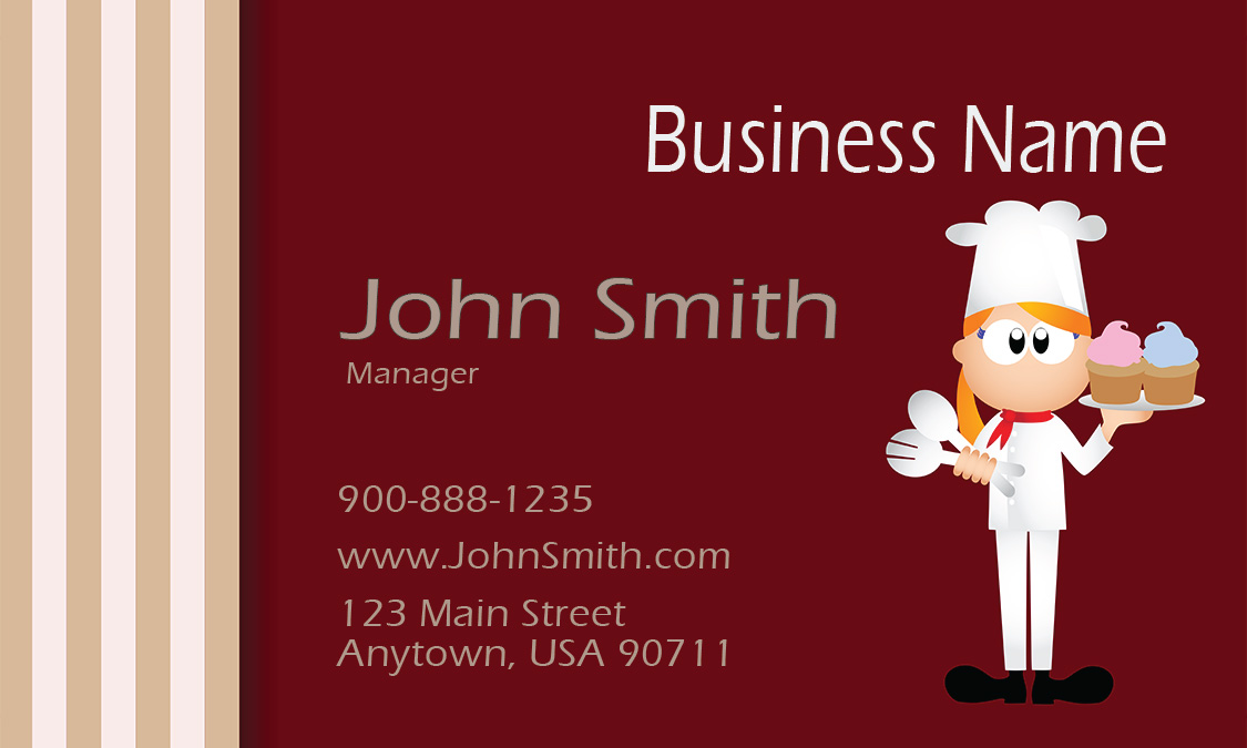 Red catering business card design 2101031 reheart