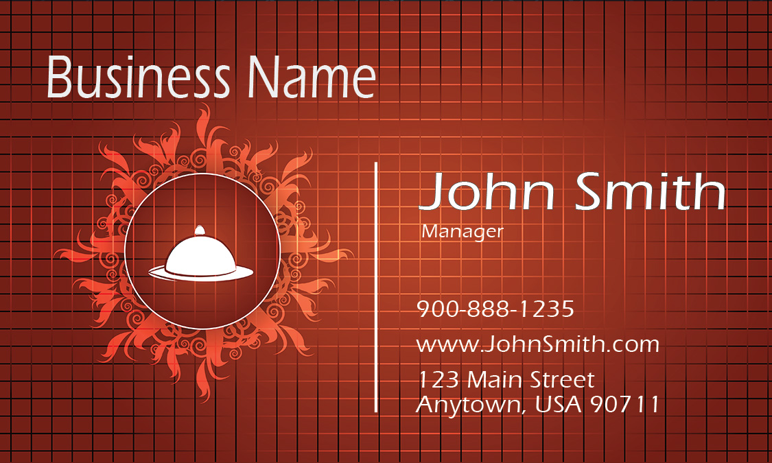 Red catering business card design 2101051 reheart Images