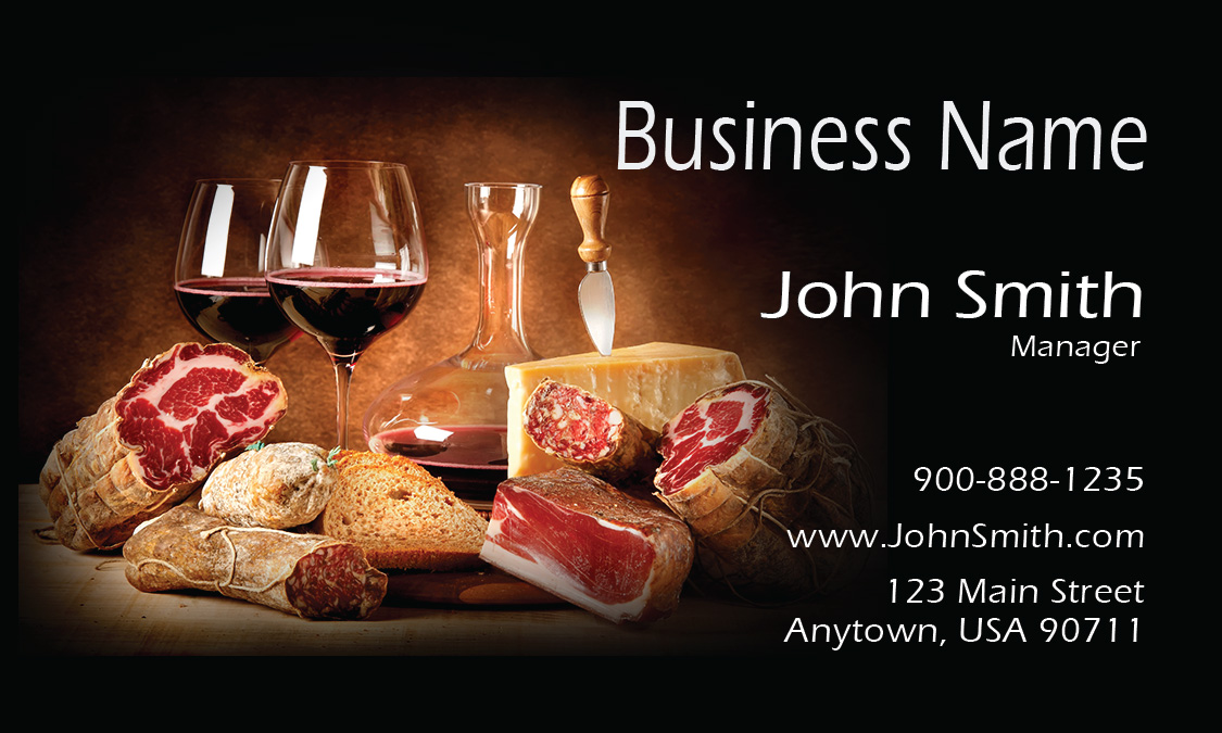 Black Catering Business Card - Design #2101061