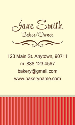 Red Catering Business Card - Design #2101071