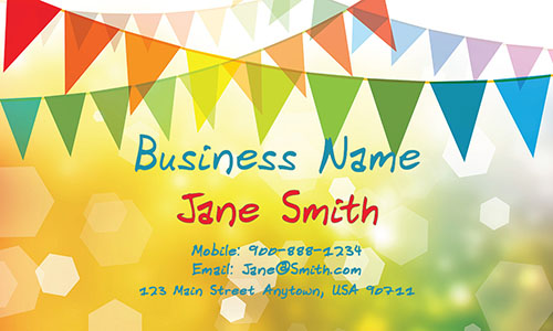 Yellow Child Care Business Card - Design #2201011