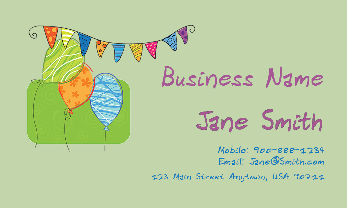 Green Child Care Business Card - Design #2201021