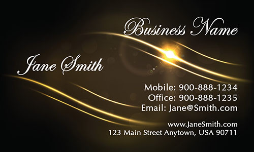 Brown Event Planning Business Card - Design #2301071