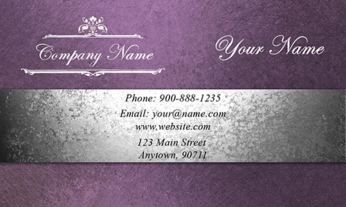 Purple Event Planning Business Card - Design #2301201