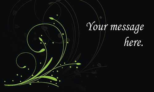 Black Florist Business Card - Design #2401021
