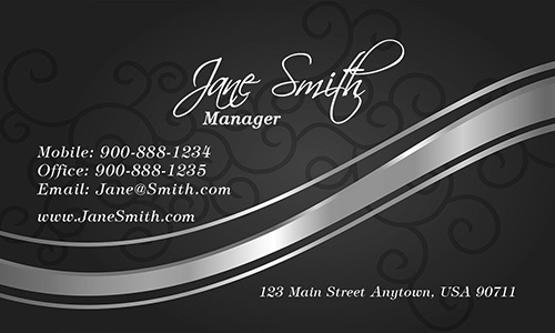 Black Florist Business Card - Design #2401032