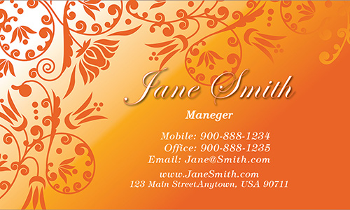 Brown Florist Business Card - Design #2401041