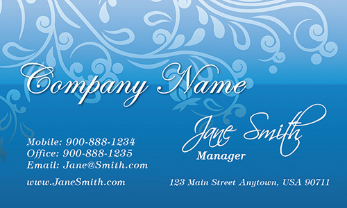 Blue Florist Business Card - Design #2401061