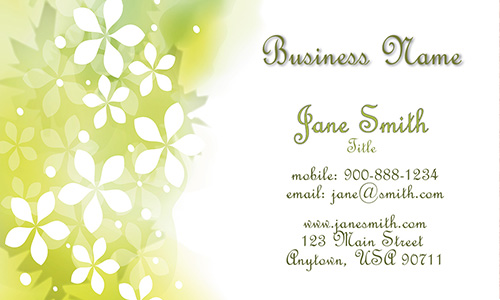 Green Florist Business Card - Design #2401081