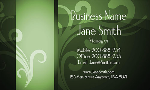 Green Florist Business Card - Design #2401131