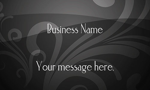 Gray Florist Business Card - Design #2401133