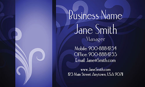 Blue Florist Business Card - Design #2401134