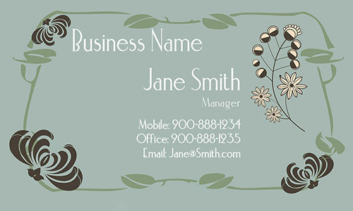 Blue Florist Business Card - Design #2401141