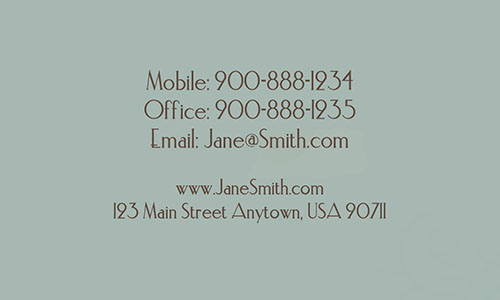 Blue Florist Business Card - Design #2401171