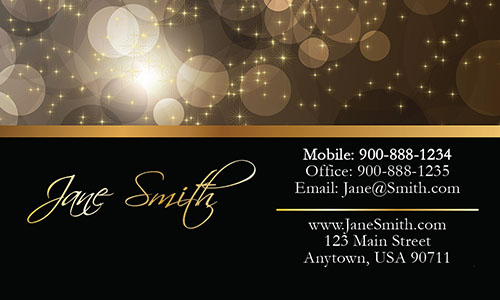 Black Florist Business Card - Design #2401191