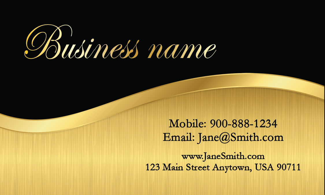 black florist business card