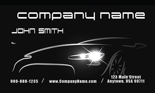 Black Mechanic Business Card - Design #2501011