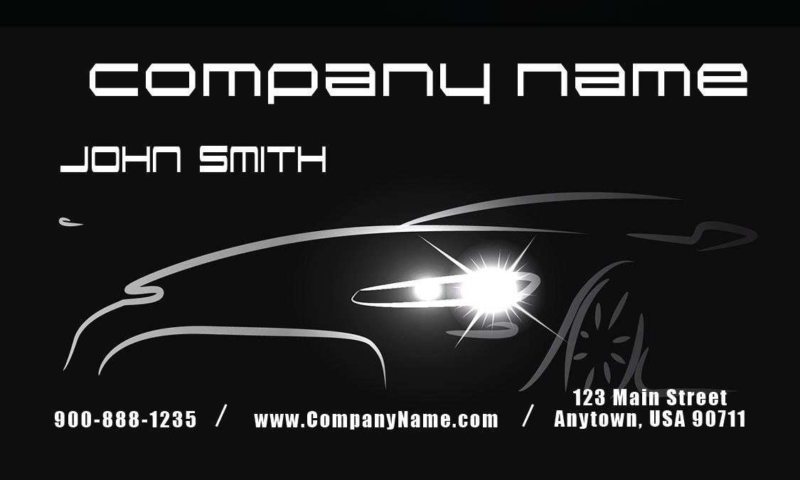 Auto mechanic business cards free shipping printifycards black mechanic business card design 2501011 black accmission Choice Image