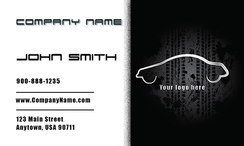 White Mechanic Business Card - Design #2501021