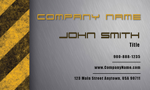 Yellow Mechanic Business Card - Design #2501041