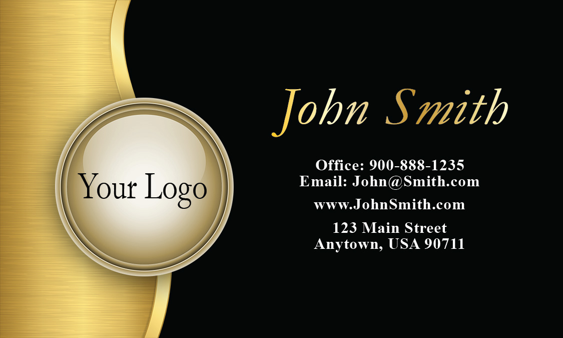Black Marketing Business Card Design 2601031