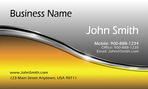 Yellow Marketing Business Card - Design #2601071