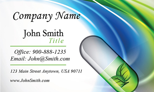 Traditional Medicine Doctor Business Card - Design #301011