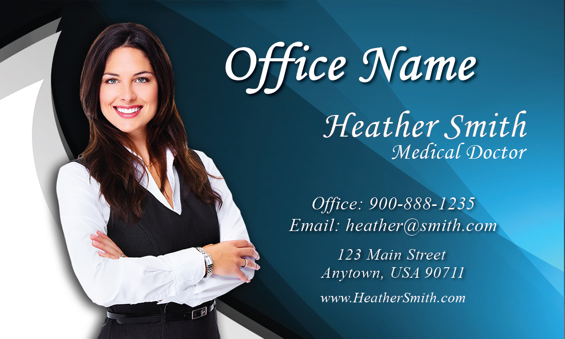 Chiropractic Practice Business Card - Design #301031
