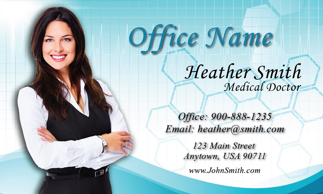 Breast Cancer Doctor Business Card - Design #301041