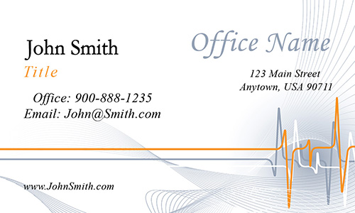 Medical Office Business Card - Design #301051