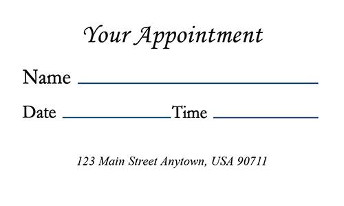 Medical Symbol Doctor Appointment Card - Design #301071