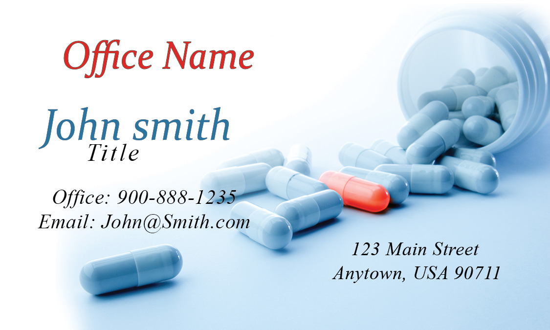 Drug Testing Laboratory Business Card - Design #301081