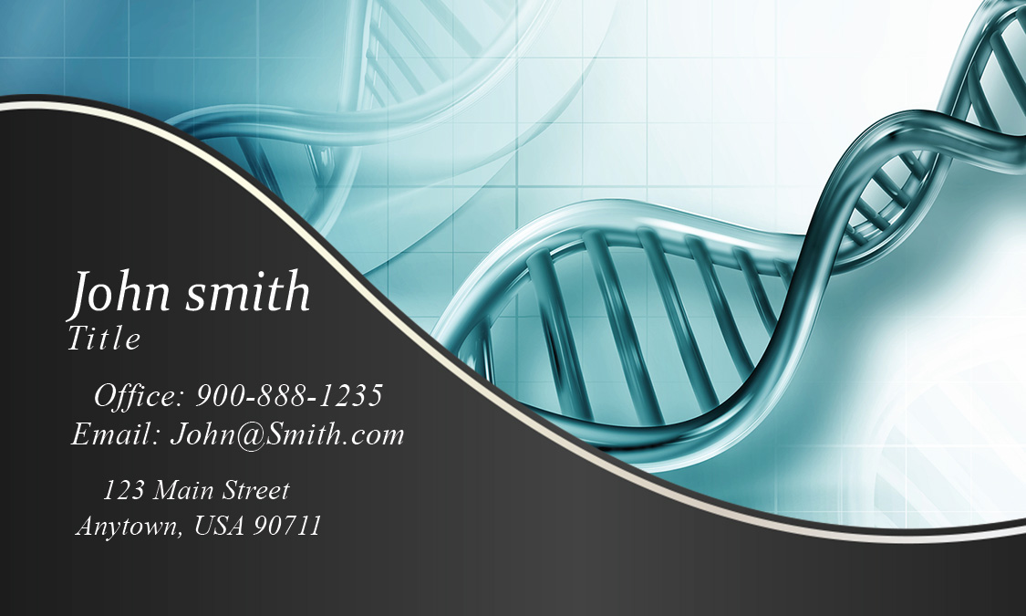 Laboratory Scientist Business Card  Design