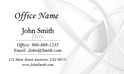 Clean White Atom Medical Laboratory Business Card - Design #301111