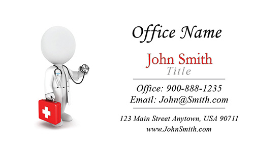 Walk in Clinic Business Card - Design #301121