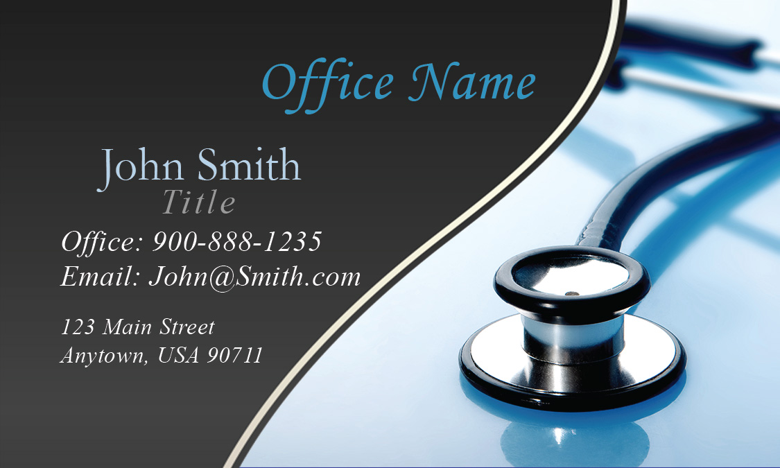 Medical Stethoscope Business Card - Design #301141