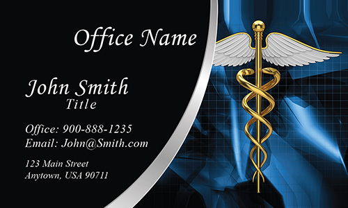 3D Gold Medical Symbol Health Care Business Card - Design #301171