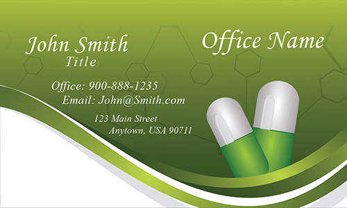 Clean Medical And Health Care Business Card  Design