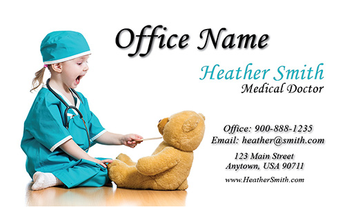 Pediatrician Business Card - Design #301201