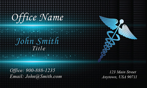 Medical Clinical Laboratory Technician Business Card  Design