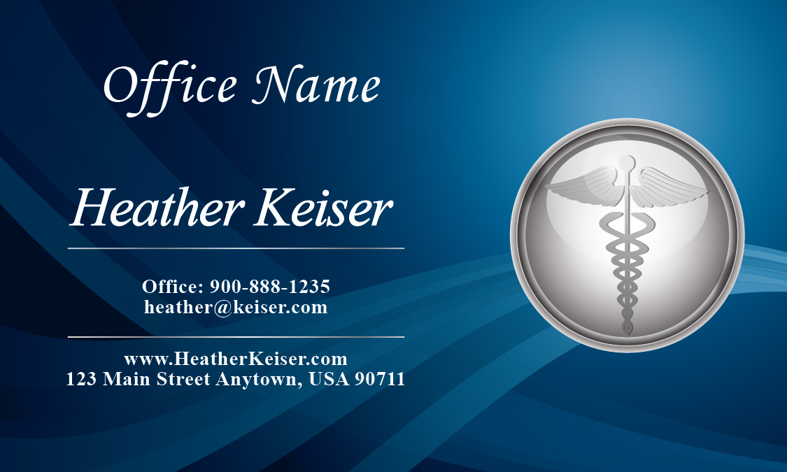 Medical Symbol Doctor Business Card - Design #301221