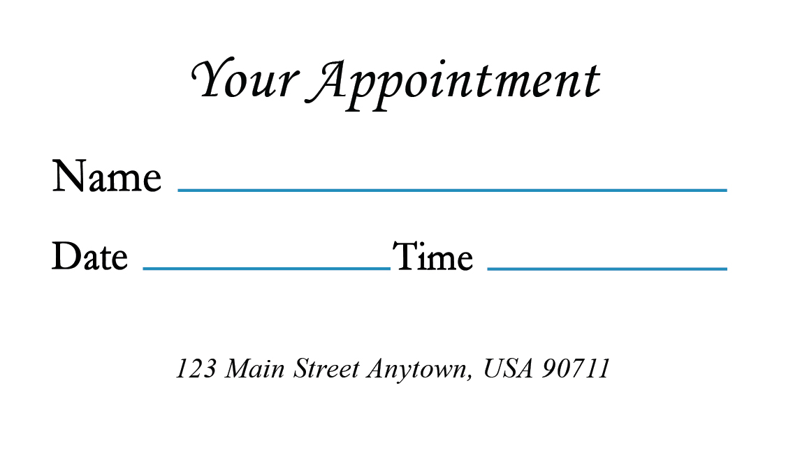 Medicine Business Card Design - Appointment business card template
