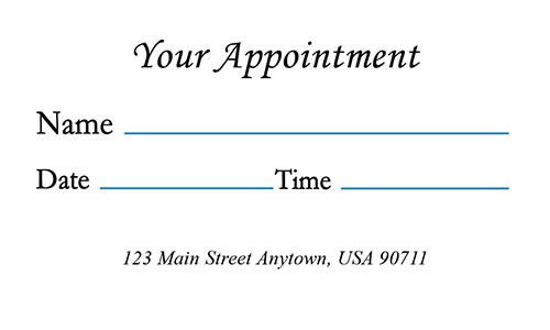 Medical Appointment Card with Photo - Design #301301