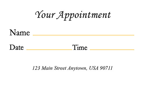 Gold Medical Appointment Card with Photo - Design #301302