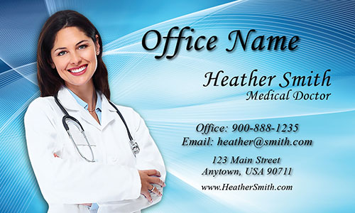 Clean Medical and Health Care Business Card - Design #301311