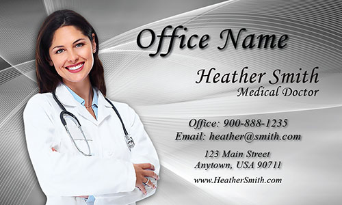 Gray Medical Business Card - Design #301312